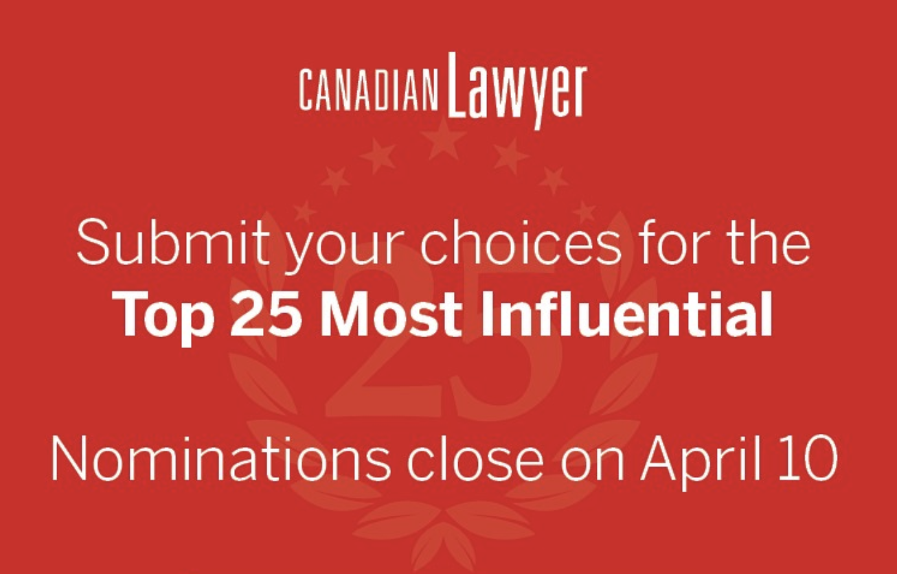 Top 25 Most Influential Lawyers